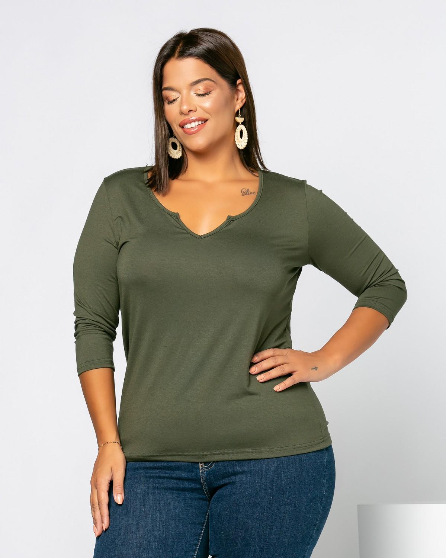 Eleana T-Shirt Λαδί