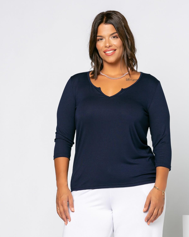 Eleana T-Shirt Μπλε Νύχτας