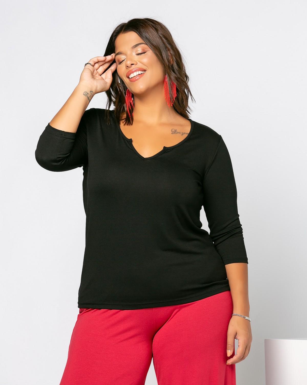 Eleana T-Shirt Μαύρο