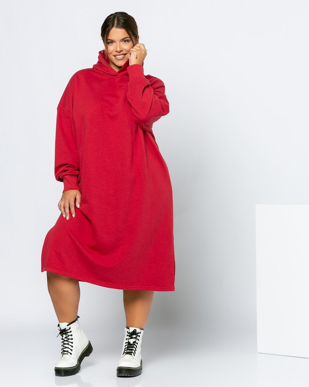 Φόρεμα Φούτερ Κερασί