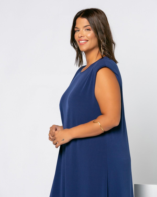 Φόρεμα Με Βάτες Μπλε Ίντιγκο