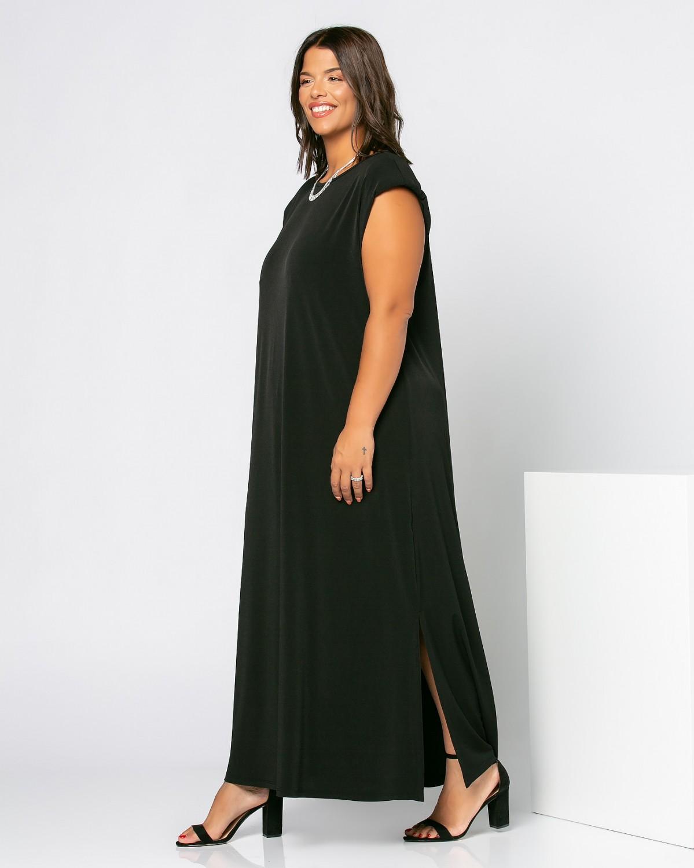 Φόρεμα Με Βάτες Μαύρο