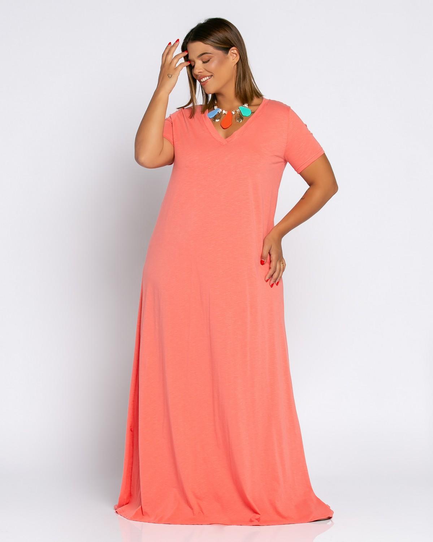 Brazil Dress Ροδακινί