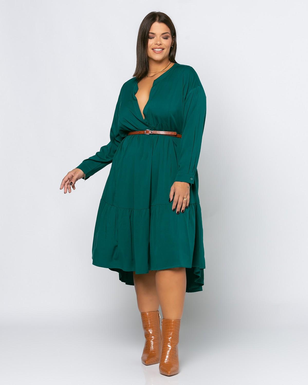 Spain Dress Pine Green