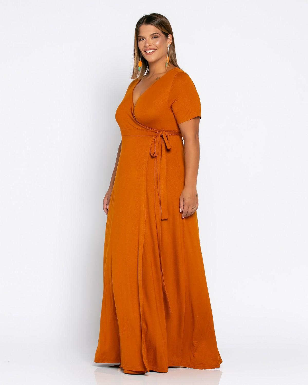 Salvadore Dress Κανέλα