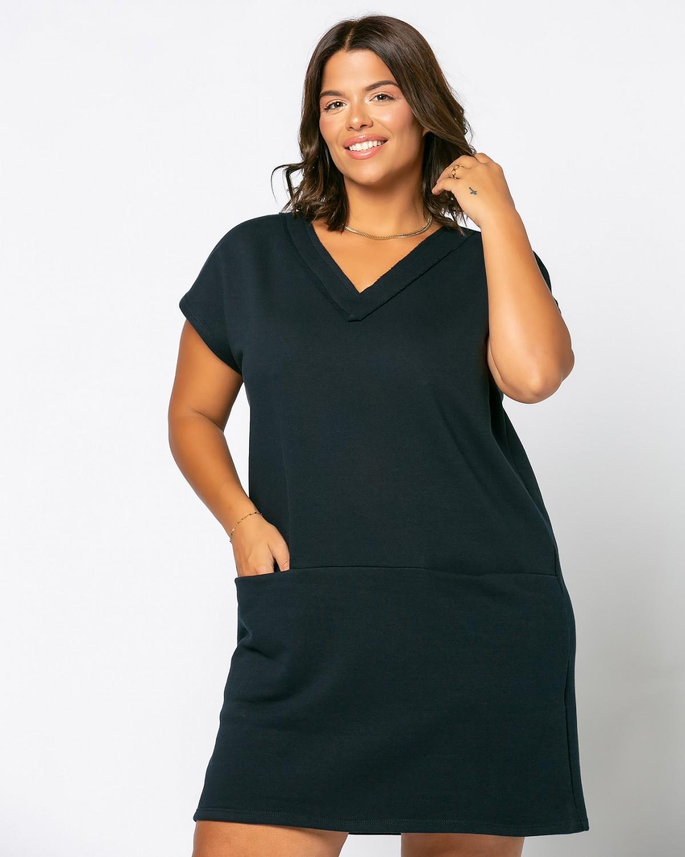 Φόρεμα Φούτερ V Μπλε Σκούρο