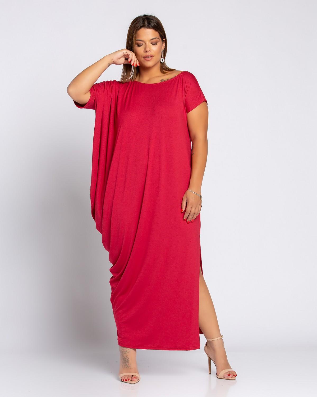 Lyon Dress Κερασί