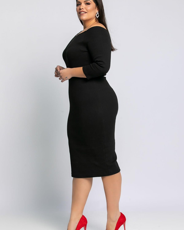 Φόρεμα Ριπ Μίντι Μαύρο