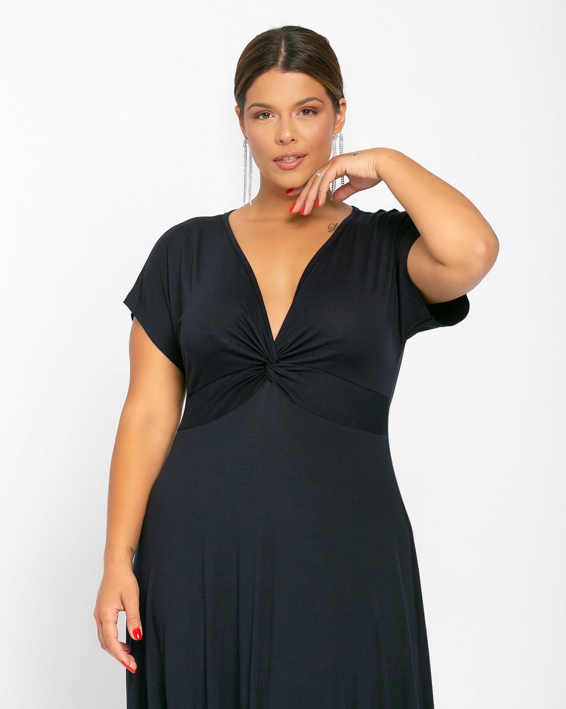 Φόρεμα Κόμπος Μπλε Σκούρο