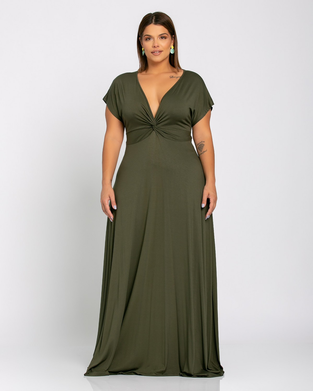 Φόρεμα Κόμπος Λαδί