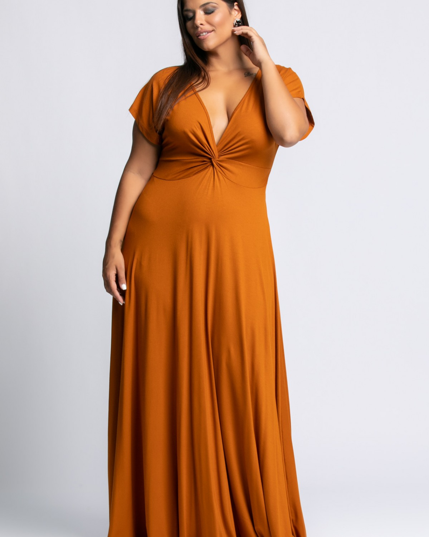 Φόρεμα Κόμπος Κανέλα