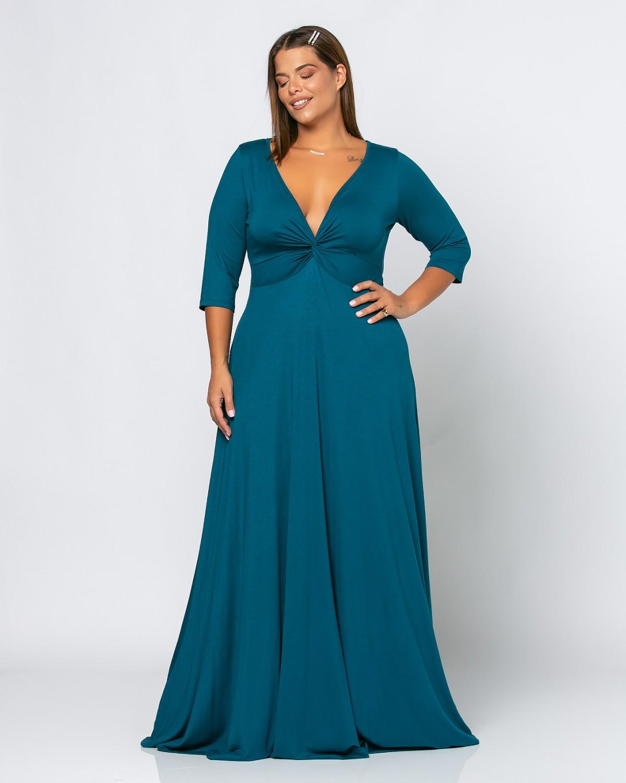 Cannes Dress Πετρόλ