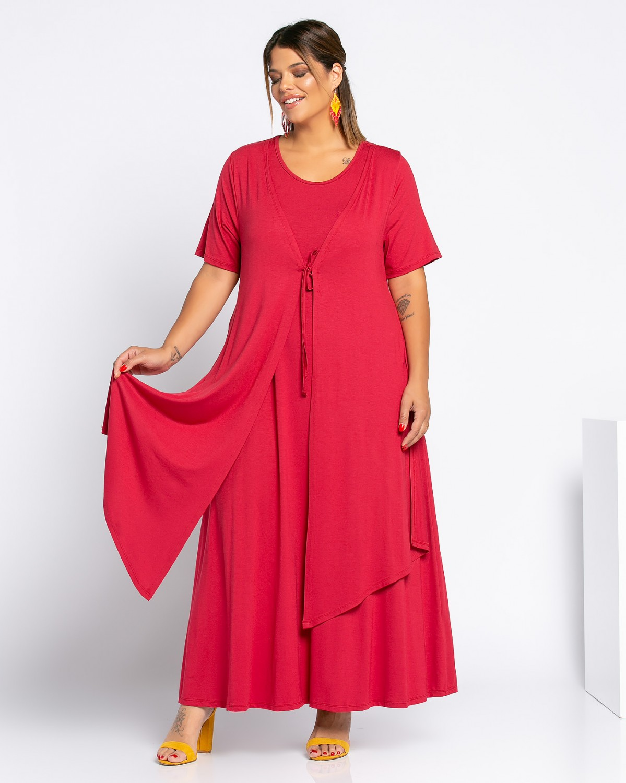 Morocco Dress Κερασί