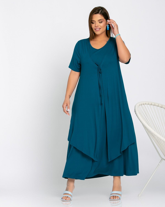 Morocco Dress Πετρόλ