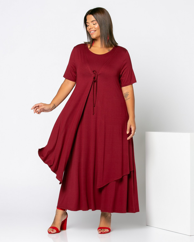 Morocco Dress Μπορντώ