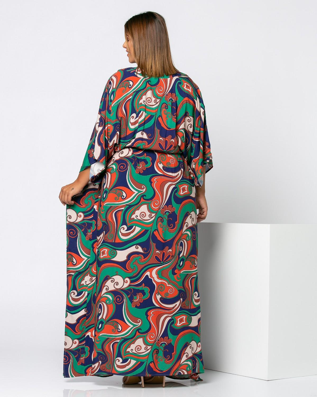 Φόρεμα εμπριμέ πράσινο