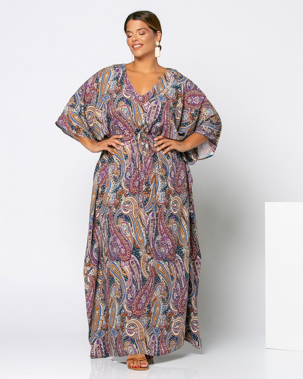 Φόρεμα με λαχούρια μωβ