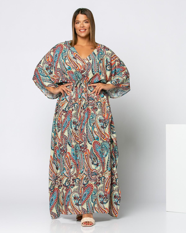 Φόρεμα με λαχούρια πορτοκαλί