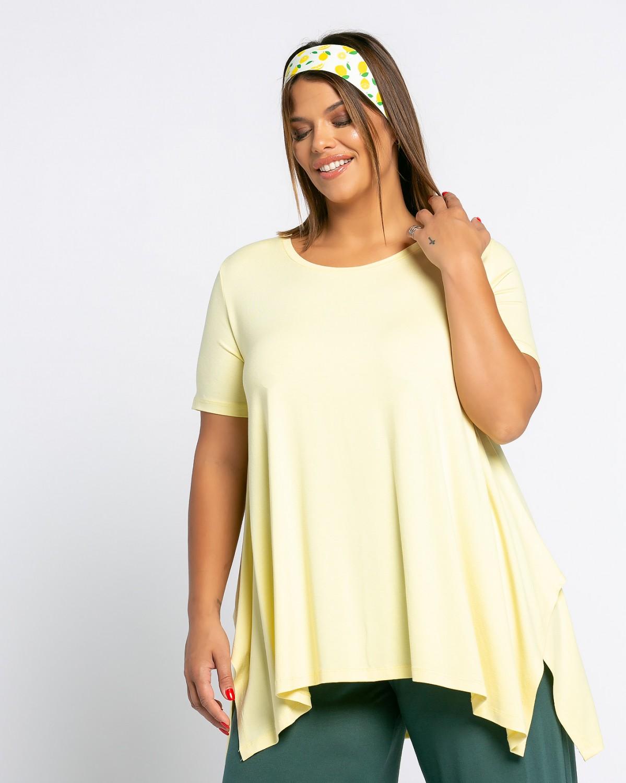 Τ-Shirt Με Μύτες Λεμονί