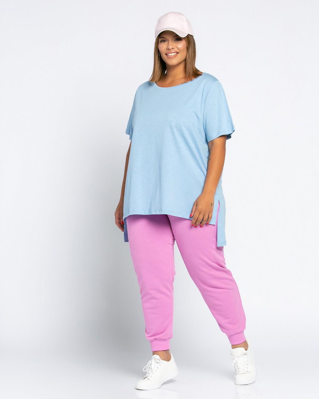 Basic Τ-Shirt Γαλάζιο