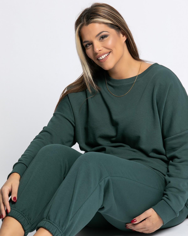 Παντελόνι φόρμας με λάστιχο κυπαρισσί