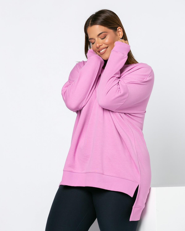 Μπλούζα Φούτερ Ασύμμετρη Purple Pink