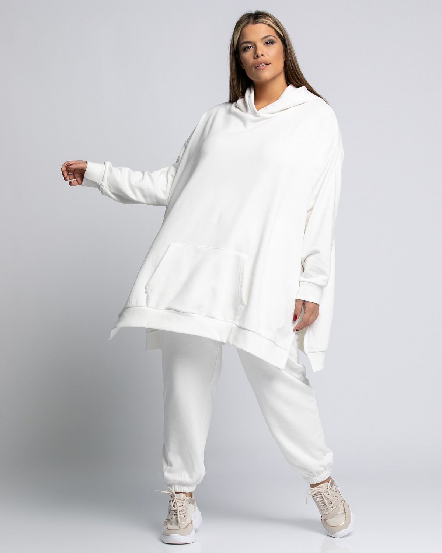 Παντελόνι φόρμας με λάστιχο Σπασμένο Λευκό
