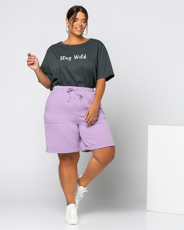 Τ-Shirt Stay Wild Ανθρακί