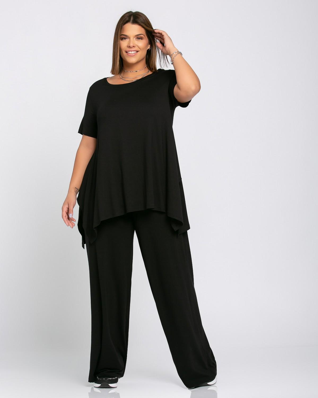 Σετ Τ-Shirt - Παντελόνα Μαύρο