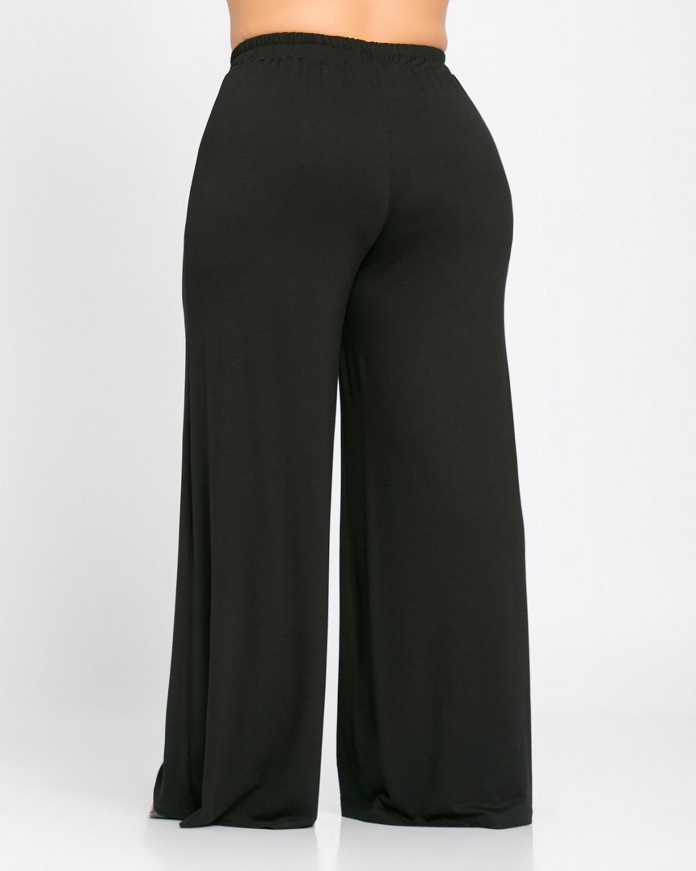 Παντελόνα Βισκόζ Μαύρη