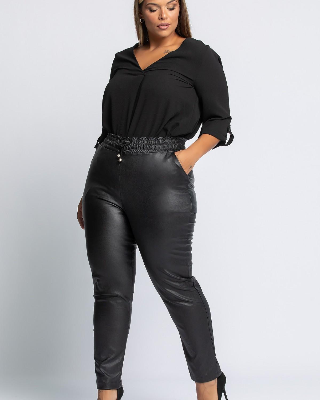 Παντελόνι Δερματίνη Μαύρο
