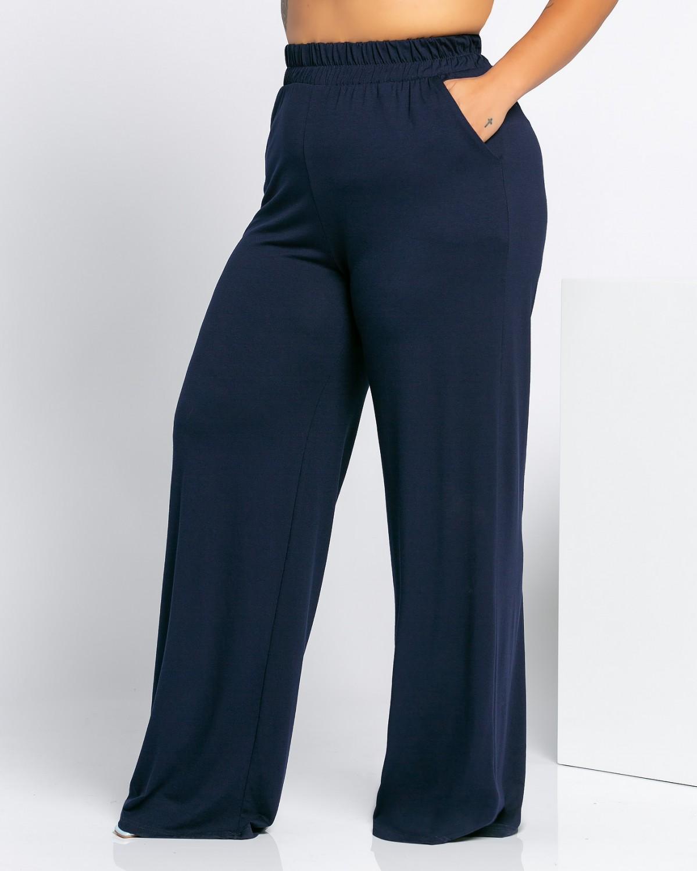 Παντελόνα Ψιλόμεση Βισκόζ Μπλε Νύχτας