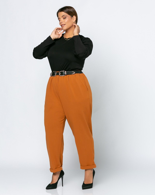 Παντελόνι Κρεπ Orange Brown