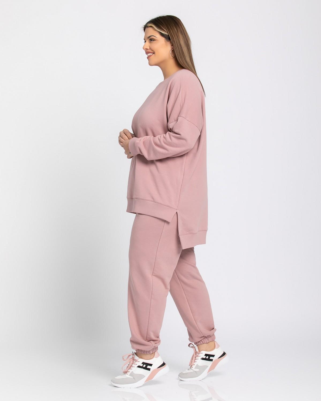 Παντελόνι φόρμας με λάστιχο dirty pink