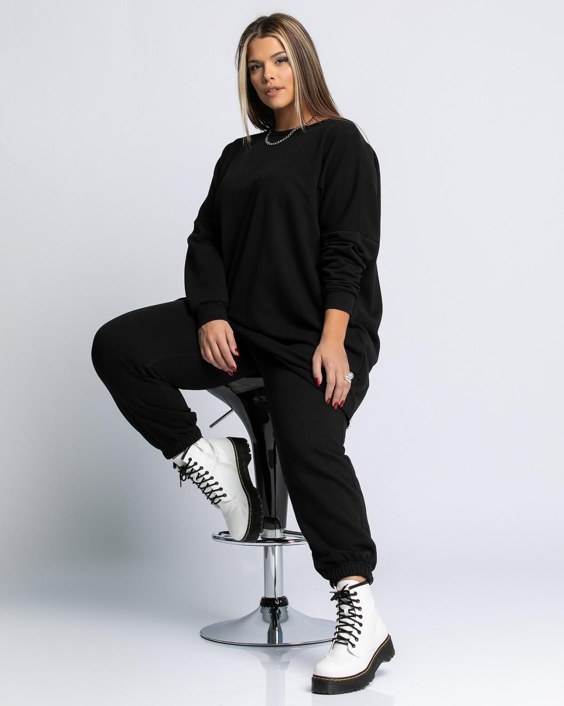 Παντελόνι φόρμας με λάστιχο μαύρο