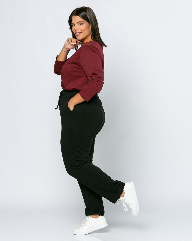 Παντελόνι φόρμας με ρεβερ μαύρο