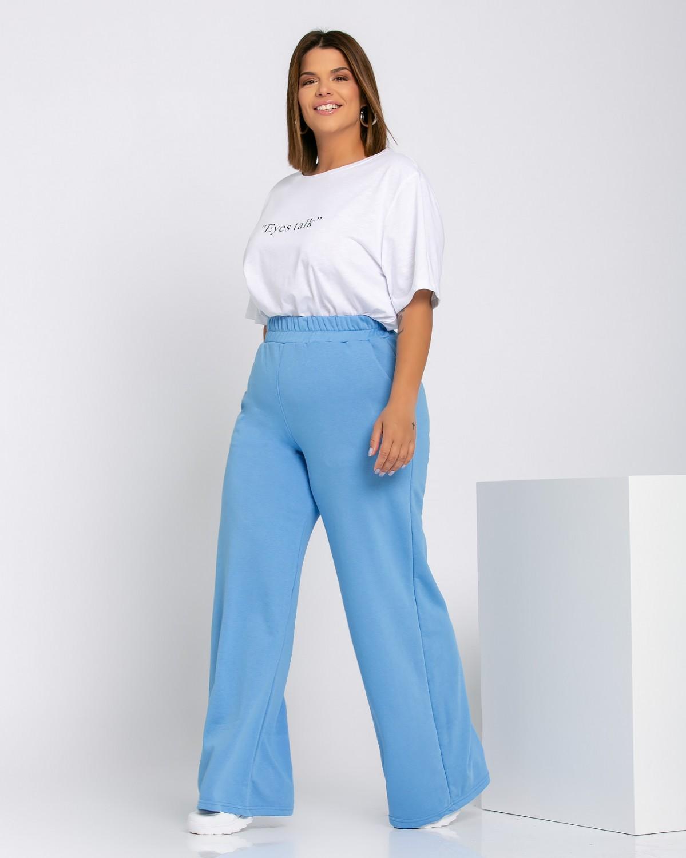 Παντελόνι φόρμας καμπάνα sky blue