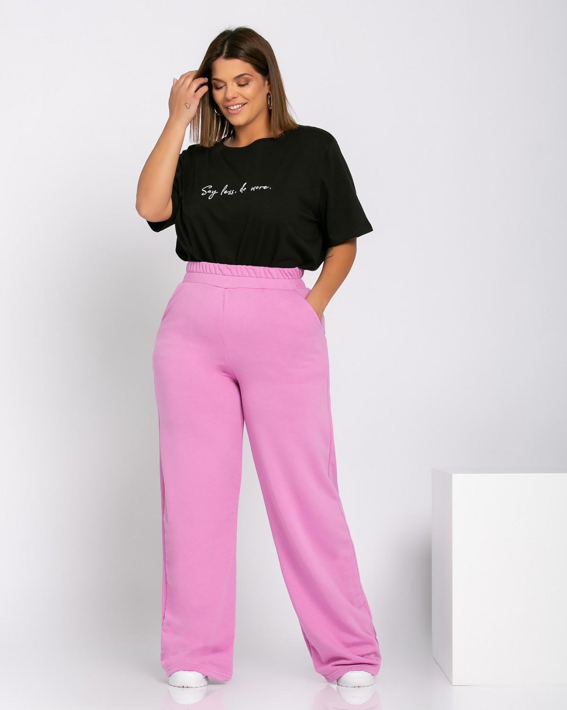 Παντελόνι φόρμας καμπάνα purple pink