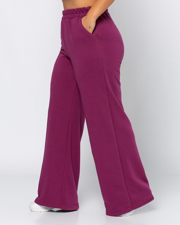 Παντελόνι φόρμας καμπάνα magenta
