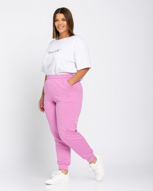 Παντελόνι φόρμας ριπ τελείωμα purple pink