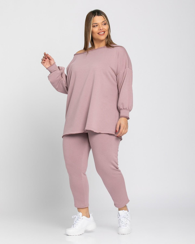 Παντελόνι φόρμας ίσιο dusty pink